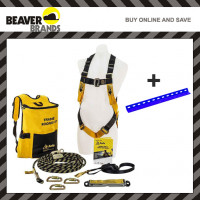 Beaver Tradies Roofers Safety Kit with Roof Anchor B-Safe Roofing