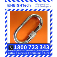 25kN Steel Oval Carabiner with a locking Screw Gate (299S)
