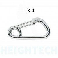 8mm RonStan Stainless steel Spring Hook Asymetric Carabiner- PK-4