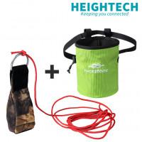 Outdoor Rock Climbing Tree Arborist Throw Weight Bag Camo Throwing Rigging +25 Rope +Bag