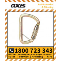 Axis Steel 53kN WIDE D TRIPLOCK With Optional Captive-Eye Pin (S501TW/PINGLD)