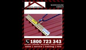 Anchor Claw Tether Plate 500mm temporary Reusable Fall arrest roof anchors includes 25kN Karabiner